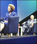 Margaret Thatcher and Edward Heath