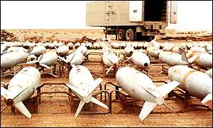 Ministry of Defence picture of Iraq chemical bombs in 1998