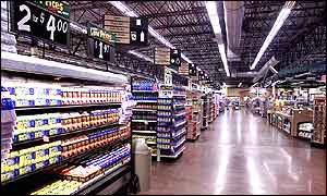 Inside a Wal-Mart store