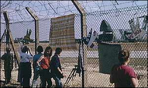 Nuclear demonstration in 1988 at Greenham Common