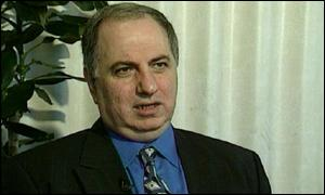 Ahmed Chalabi, leader of the Iraqi National Congress