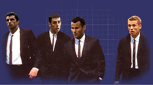 The Tafia Mafia - Gary Speed, Mark Delaney, Ryan Giggs and Craig Bellamy