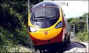 Virgin tilting train