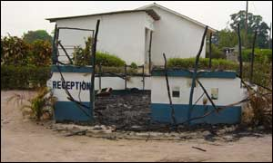Madibou burnt police station