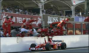 Michael Schumacher wins the Japanese Grand Prix