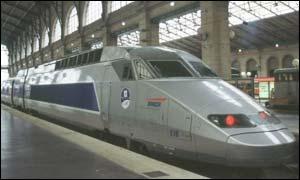 A TGV train