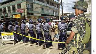 Security forces in Zamboanga after the bombing
