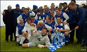 Queen of the South celebrate their first cup win