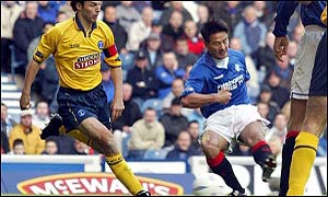 Michael Mols opens the scoring for Rangers