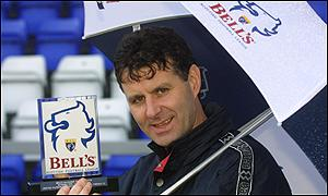 Steve Paterson with one of his manager of the month awards