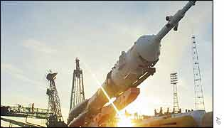 Soyuz rocket prepared for launch