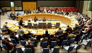 The UN security council meets in New York