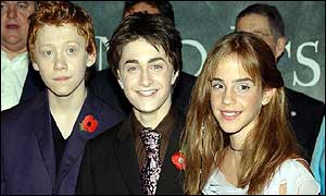Harry Potter stars (from left) Rupert Grint, Daniel Radcliffe and Emma Watson