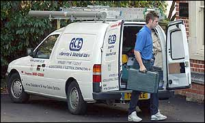 Security firm arrives at the Beckhams' home