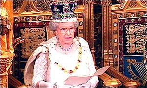 Queen Elizabeth II opening parliament