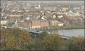 A view of Londonderry on the River Foyle