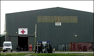 Sangatte Red Cross camp
