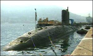 HMS Tireless grounded in Gibraltar