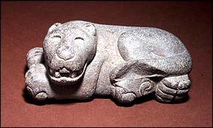 Reclining Jaguar, Aztec, Late Post Classic, courtesy of Brooklyn Museum of Art