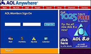 AOL front page 