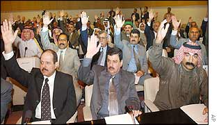 Members of parliament vote against the resolution.