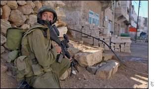 Israeli soldier in Hebron