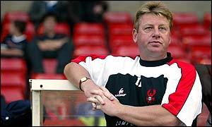 Harriers' boss Ian Britton