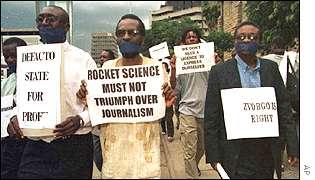 Zimbabwe protestors