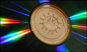 Compact disc close up, BBC