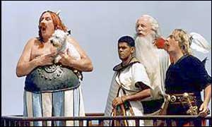 Depardieu plays the rotund Obelix in the Asterix films