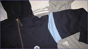 Get kitted out in these adidas hooded tops