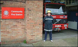 Neil Johnson at Wragby fire station