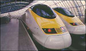 A Eurostar train in London