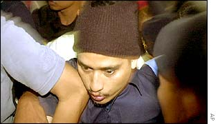 Imam Samudra in police custody