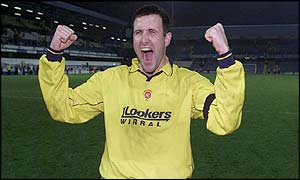Vauxhall Motors Phil Brazier celebrates after beating QPR