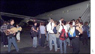 Israeli tourists waiting to be evacuated from Kenya