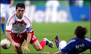 Turkey's World Cup striker Hakan Sukur