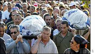Funeral of Israeli brothers Noy and Dvir Anter, killed in Kenya hotel blast