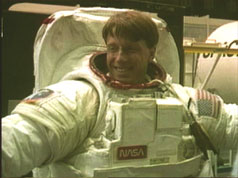 Photograph of British-born astronaut Michael Foale