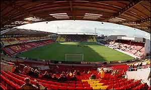 Vicarage Road, the home of Watford FC