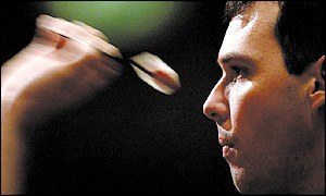 Australian Tony David, who won the Embassy World Darts Championship in 2002