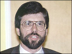 Gerry Adams was shot in the neck, shoulder and arm