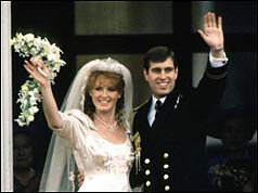 The Duke and Duchess of York on their wedding day