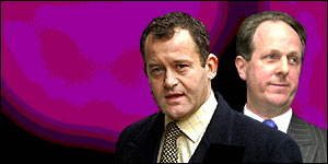 Royal butlers Paul Burrell and Harold Brown