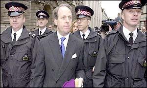 Harold Brown leaving court