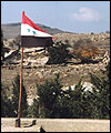 Syrian flag at the Syria - Israel border