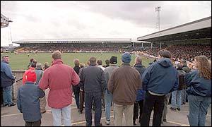 Spectators at Vale Park