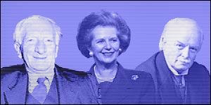 Sir William Beveridge, Margaret Thatcher and David Lloyd George