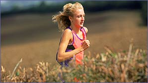 Paula Radcliffe in training