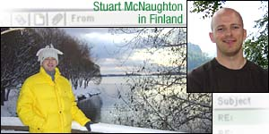 Stuart in icy Finland